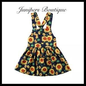 Boutique Girls Sunflower Halter Dress